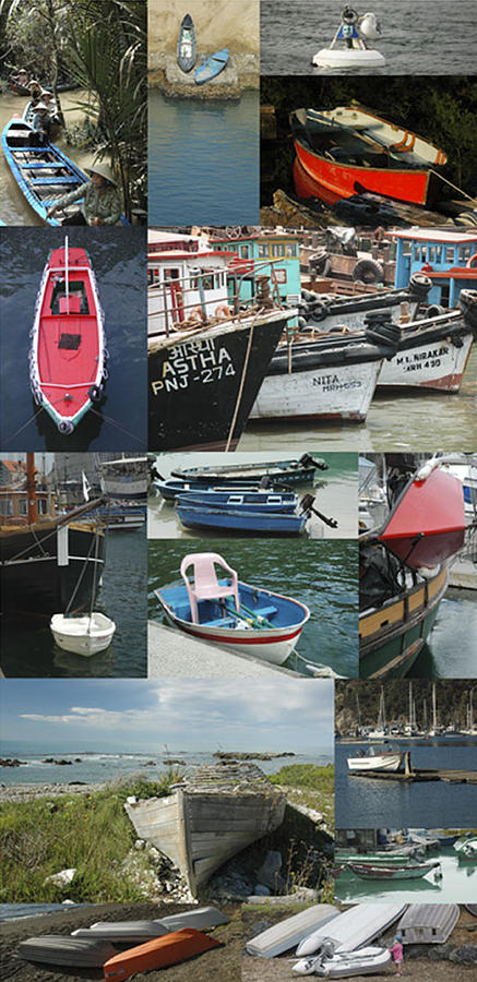 Boats Photograph - Boats Around The World by Helen Worley