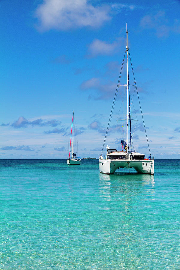 Boats At Salt Whistle Bay, Mayreau Photograph by Oriredmouse