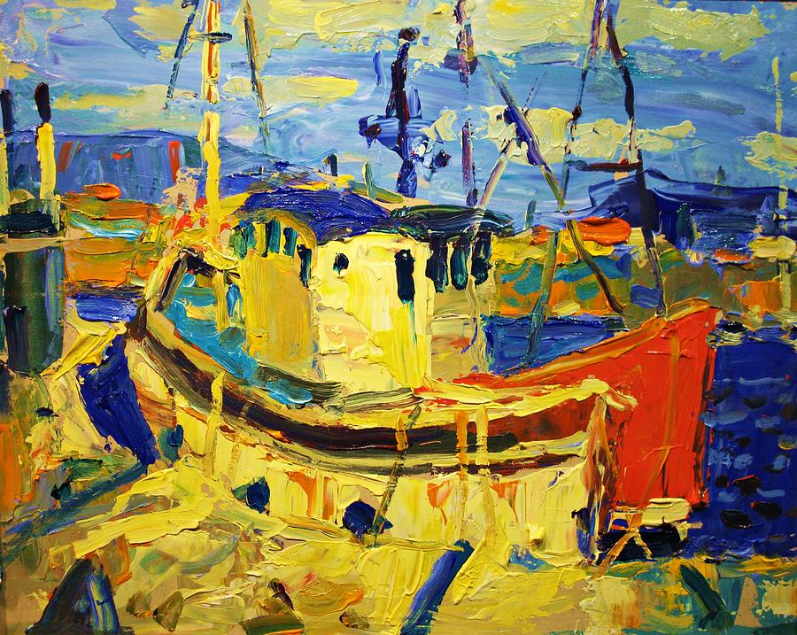 Boats Painting - Boats II by Brian Simons