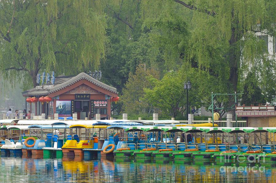 Beijing Photograph - Boats In A Park, Beijing by John Shaw
