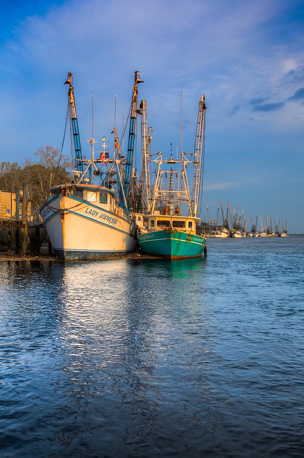 Boats Photograph - Boats In Blue by Debra and Dave Vanderlaan