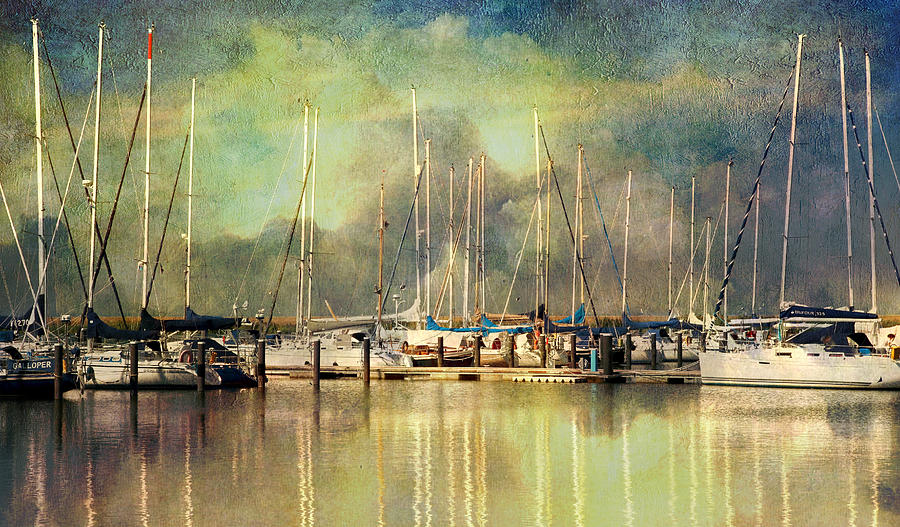 Boats Photograph - Boats In Harbour by Annie Snel