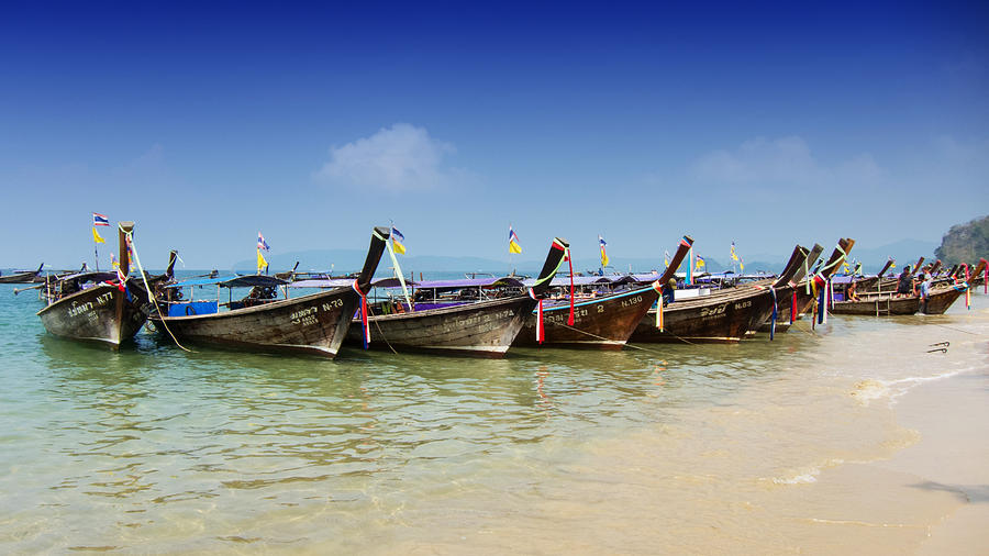 Boats Photograph - Boats In Thailand by Zoe Ferrie
