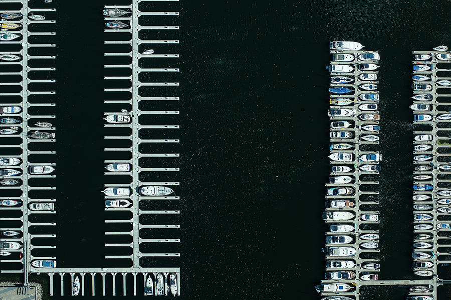 Boats In The Harbour Photograph by Michael H
