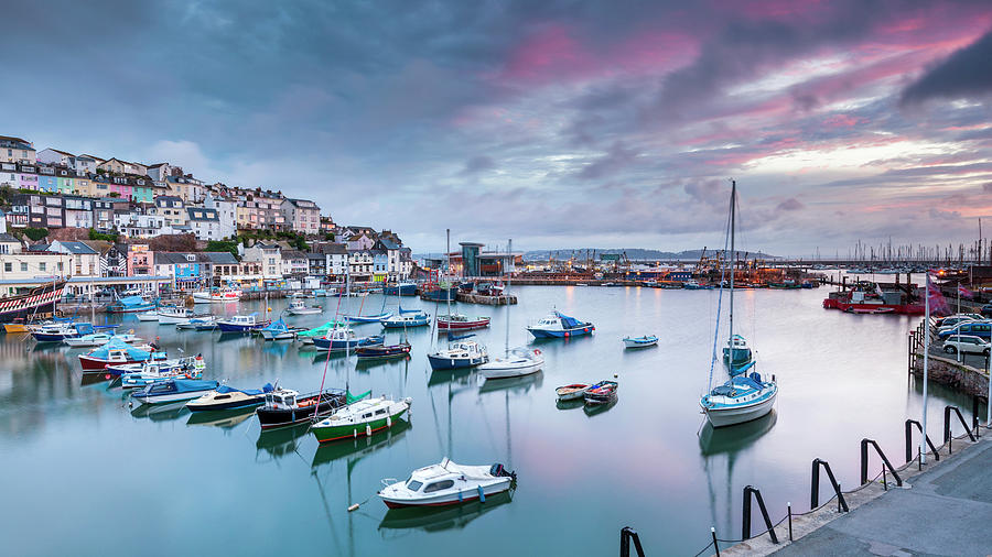 Boats Moored In Harbour Photograph by Sebastian Wasek