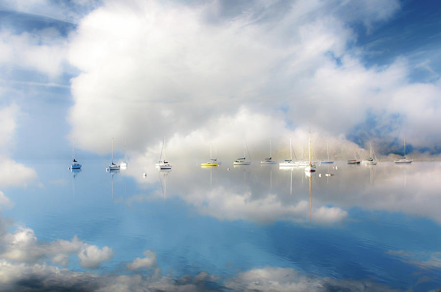 Boats Moored On Lake Windermere Photograph by Rory Mcdonald