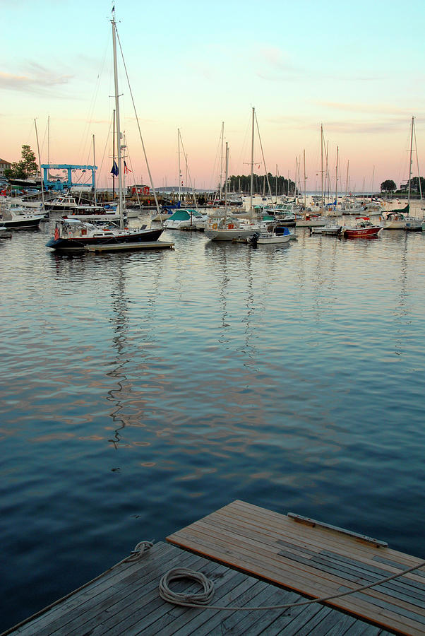 Boats On Penebscot Bay In Camden, Maine Photograph by Andrea Sperling
