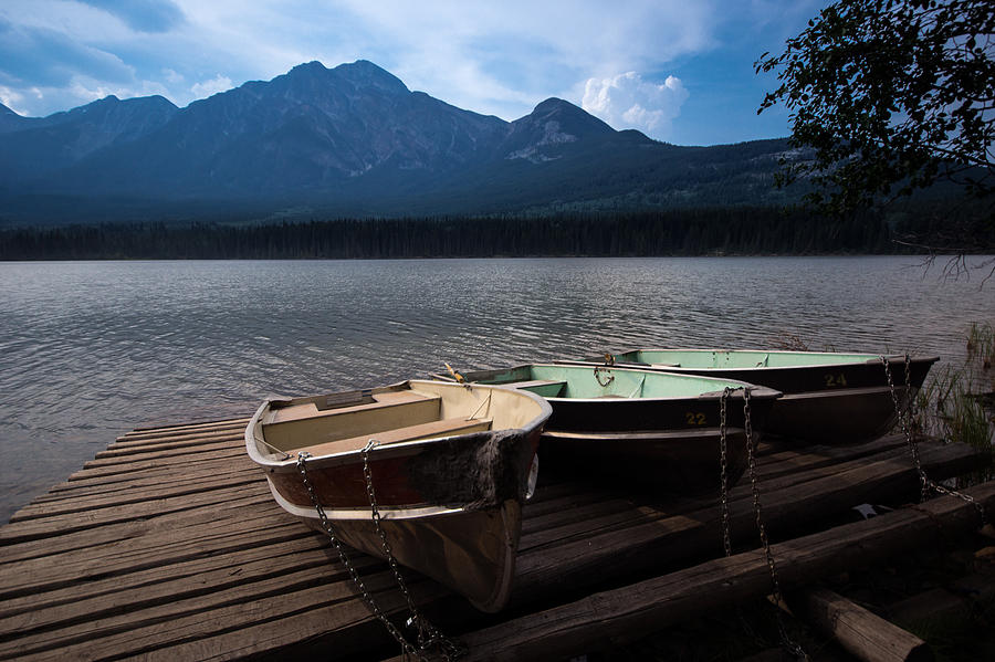 Boats On Pyramid Lake Photograph