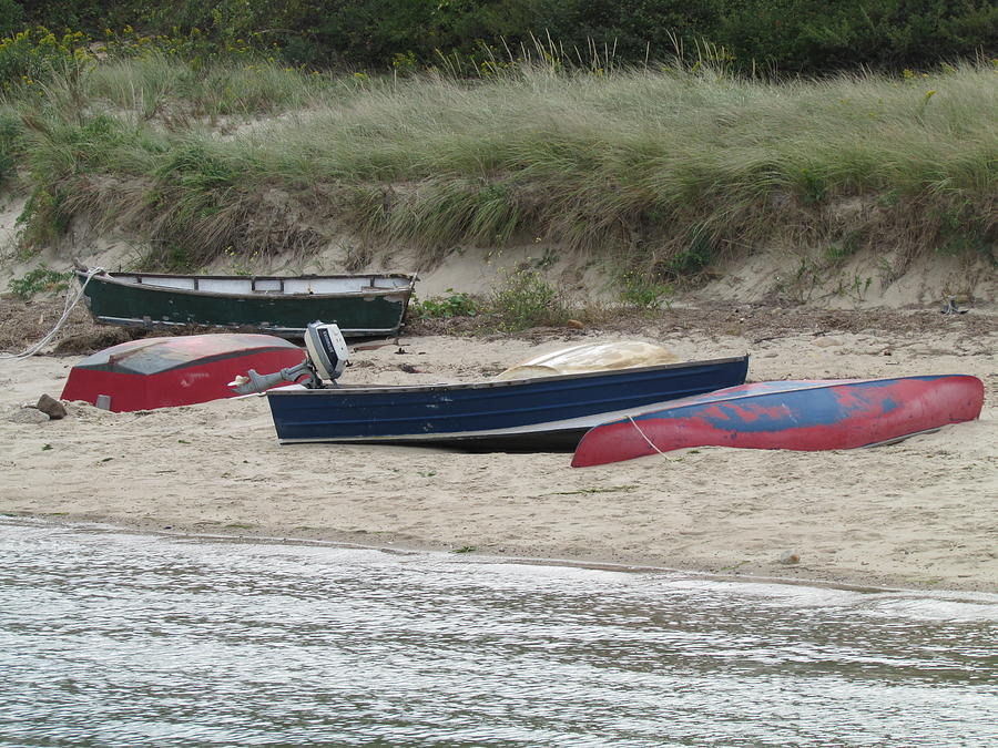 Boats Photograph - Boats On The Beach by Marci Spotts