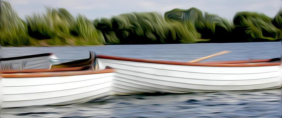 Hudson River Prints Pyrography - Boats by Stefan Petrovici