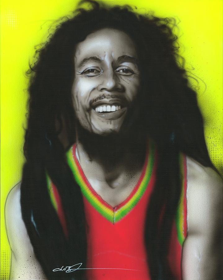 Bob Marley Painting - Bob by Christian Chapman Art