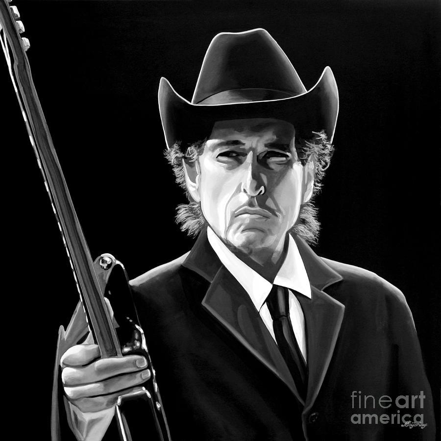 Bob Dylan Mixed Media - Bob Dylan 2 by Meijering Manupix