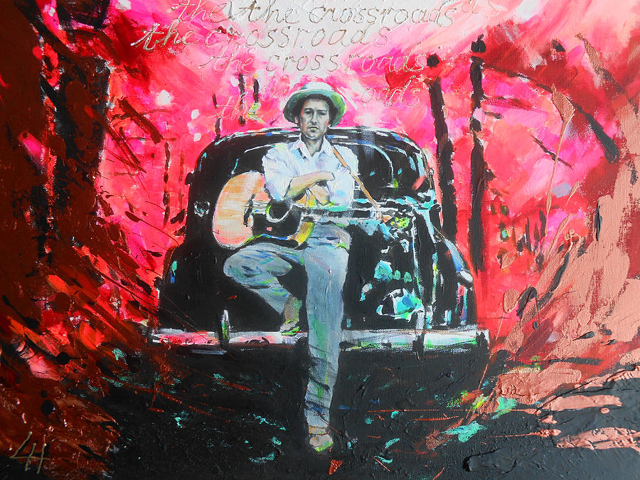 Bob Dylan Painting - Bob Dylan - Crossroads by Lucia Hoogervorst