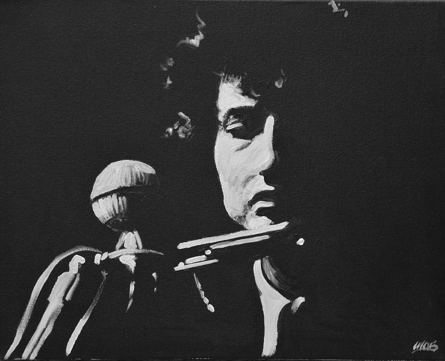 Bob Dylan Painting - Bob Dylan by Melissa OBrien