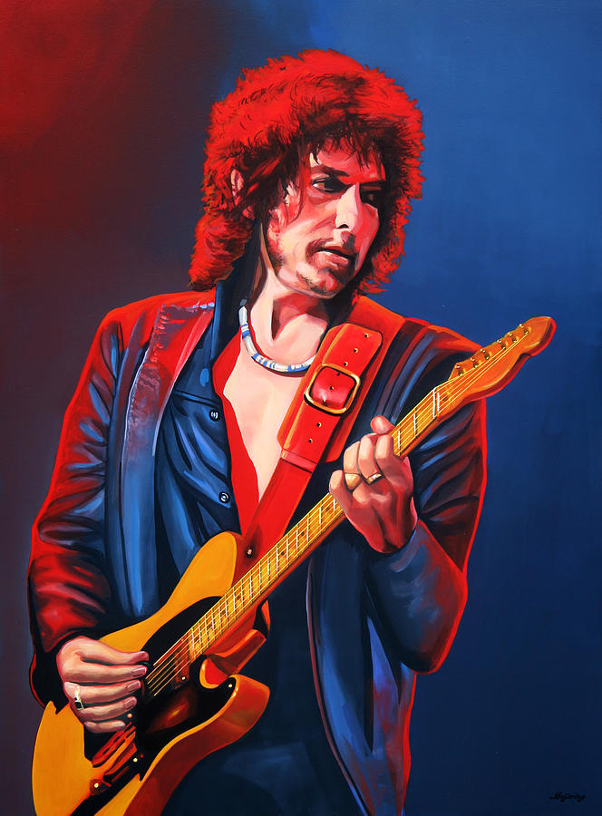 Bob Dylan Painting - Bob Dylan Painting by Paul Meijering