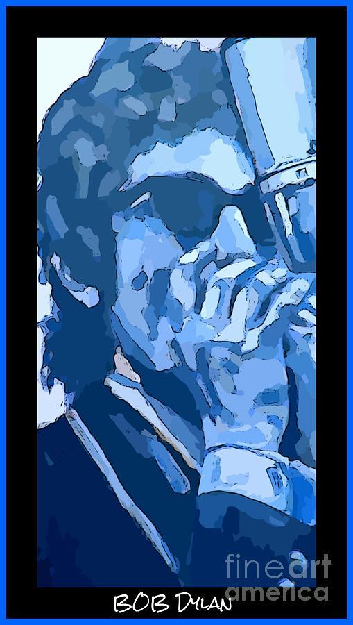 Bob Dylan Poster Mixed Media