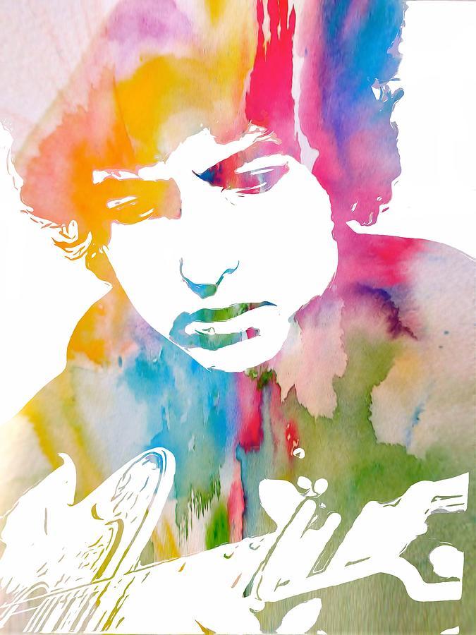 Bob Dylan Painting - Bob Dylan Watercolor by Dan Sproul