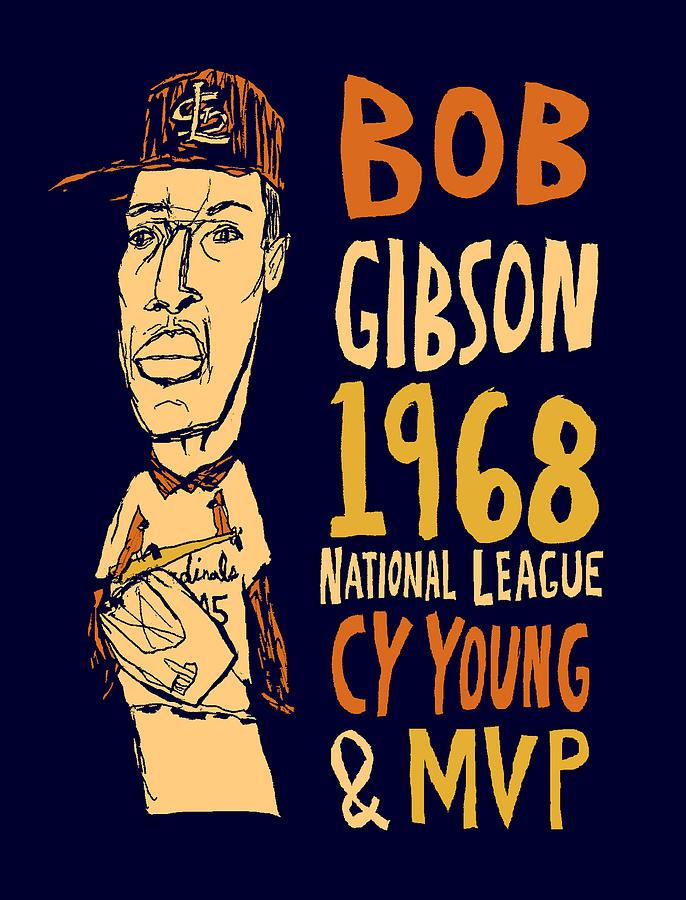 Bob Gibson Mixed Media - Bob Gibson St Louis Cardinals by Jay Perkins