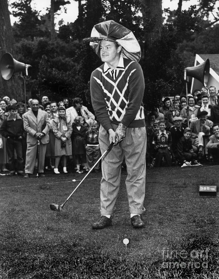 bob hope photograph bob hope at bing crosby national pro am golf championship pebble