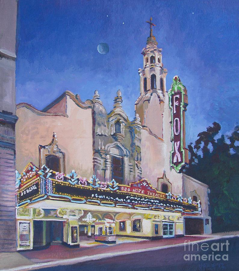 Photo Realism Painting - Bob Hope Theatre by Vanessa Hadady BFA MA
