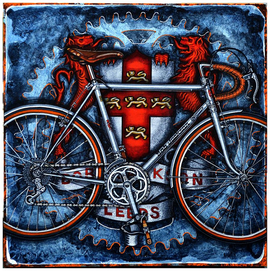 Bicycle Painting - Bob Jackson by Mark Jones