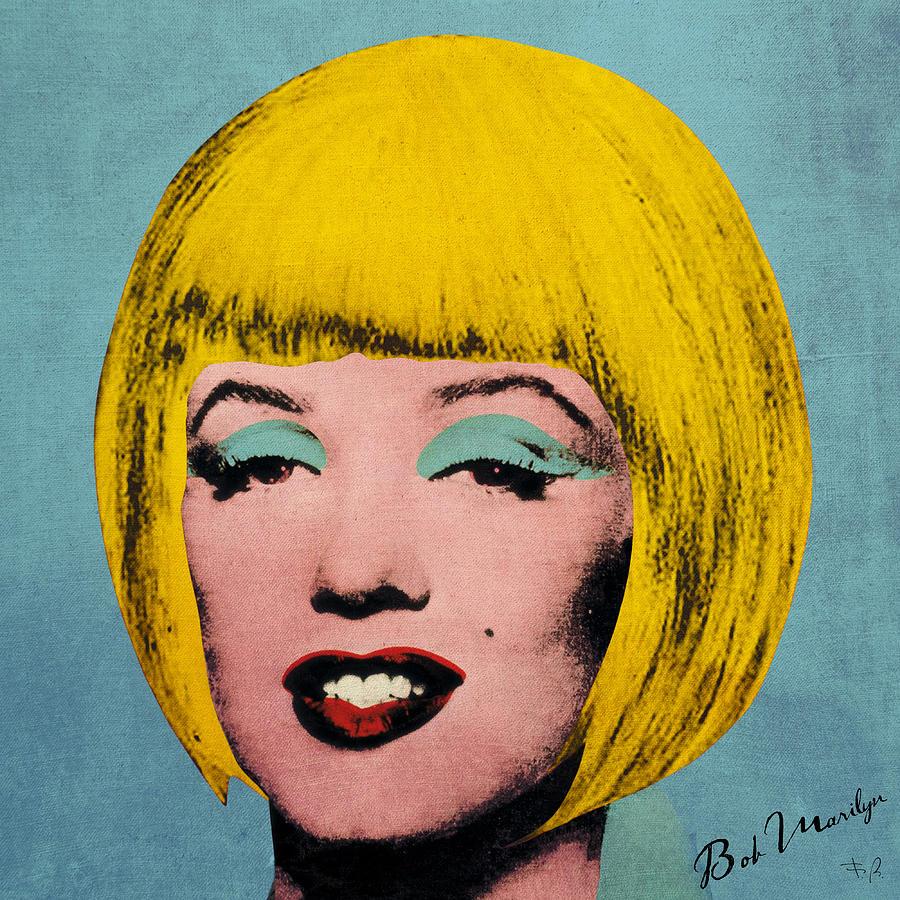 Pop Digital Art - Bob Marilyn  by Filippo B