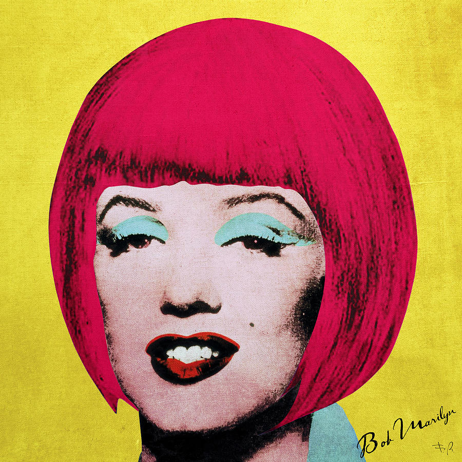 Pop Digital Art - Bob Marilyn  Variant 1 by Filippo B