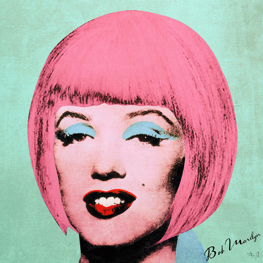 Pop Digital Art - Bob Marilyn  Variant 2 by Filippo B