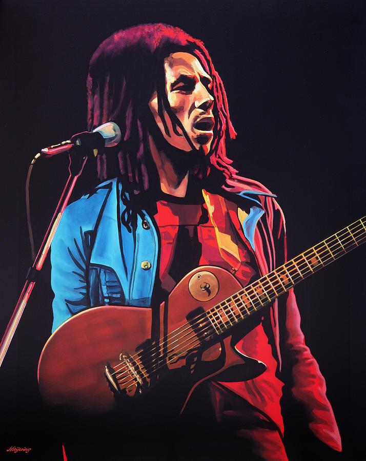 Bob Marley Painting - Bob Marley 2 by Paul Meijering