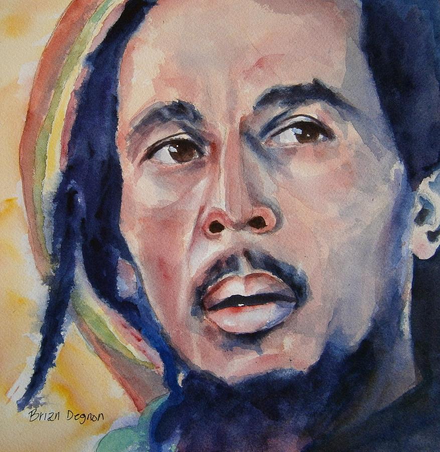 Bob Marley Painting - Bob Marley by Brian Degnon
