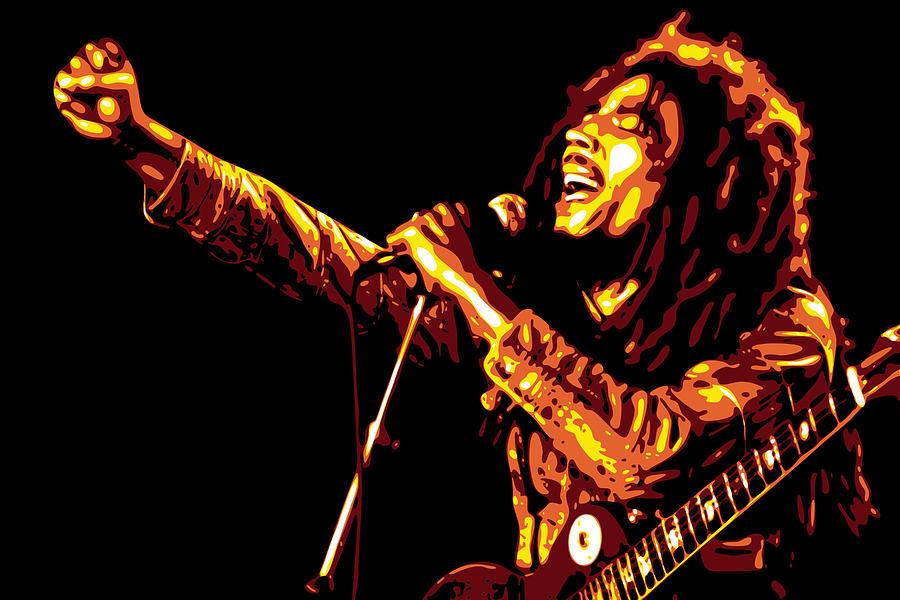 Bob Marley Digital Art - Bob Marley by DB Artist