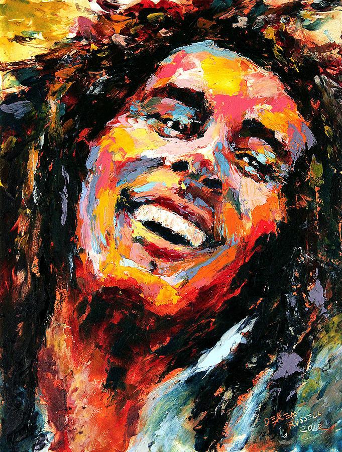 Bob Marley Painting - Bob Marley by Derek Russell