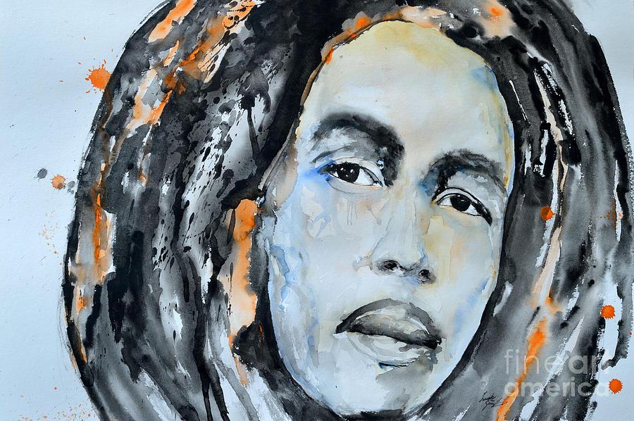 Bob Marley Painting - Bob Marley by Ismeta Gruenwald