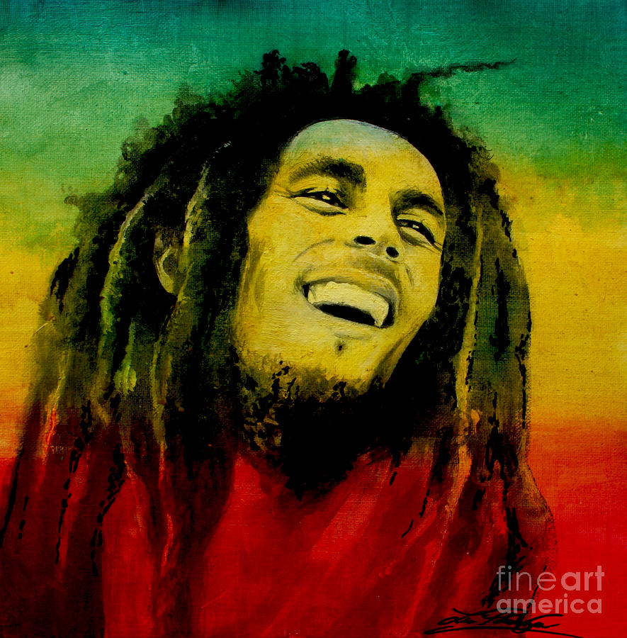 Bob Marley Painting by Lin Petershagen