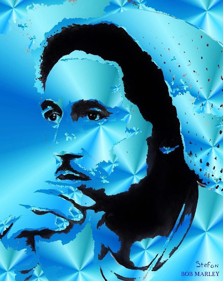 Bob Marley Digital Art - Bob Marley Portrait by Stefon Marc Brown