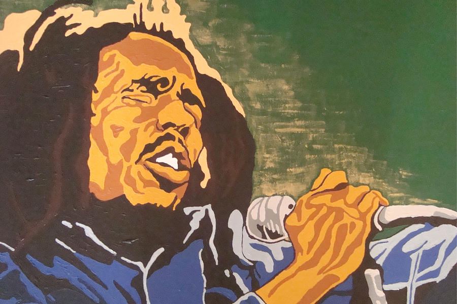 Bob Marley Painting - Bob Marley by Rachel Natalie Rawlins