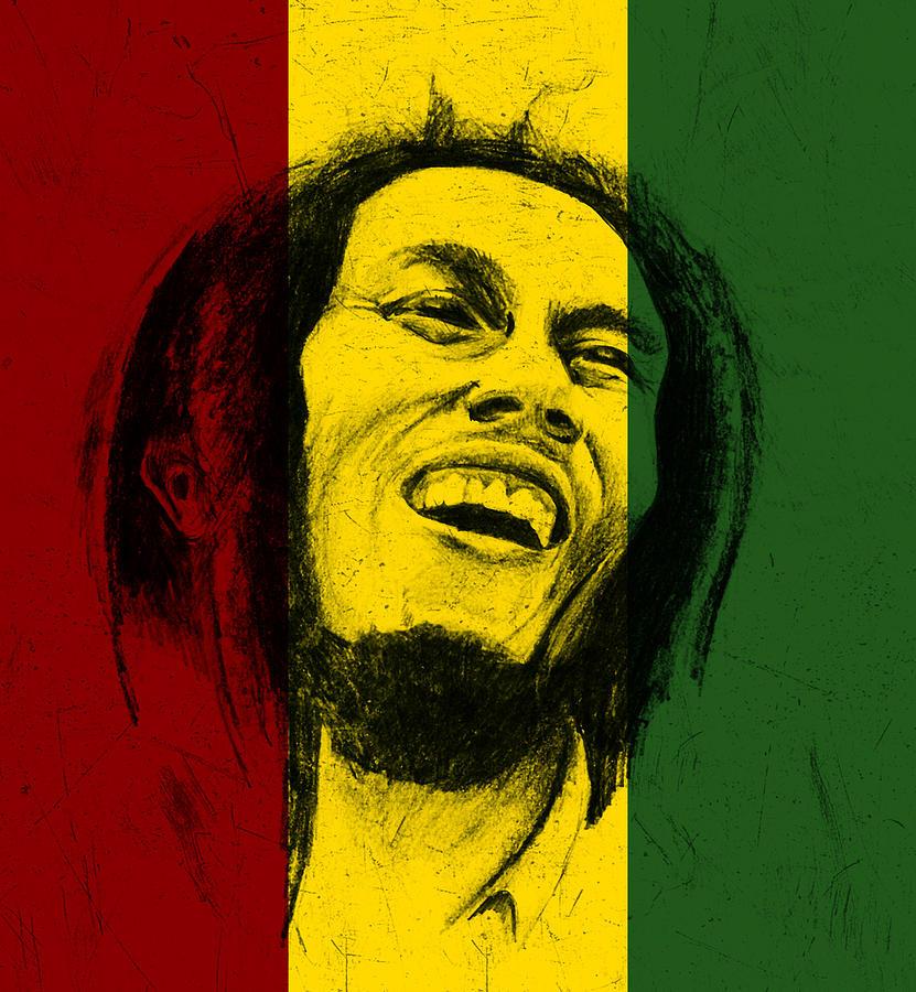 Bob Marley Digital Art - Bob Marley Reggae Tribute by Allan Swart