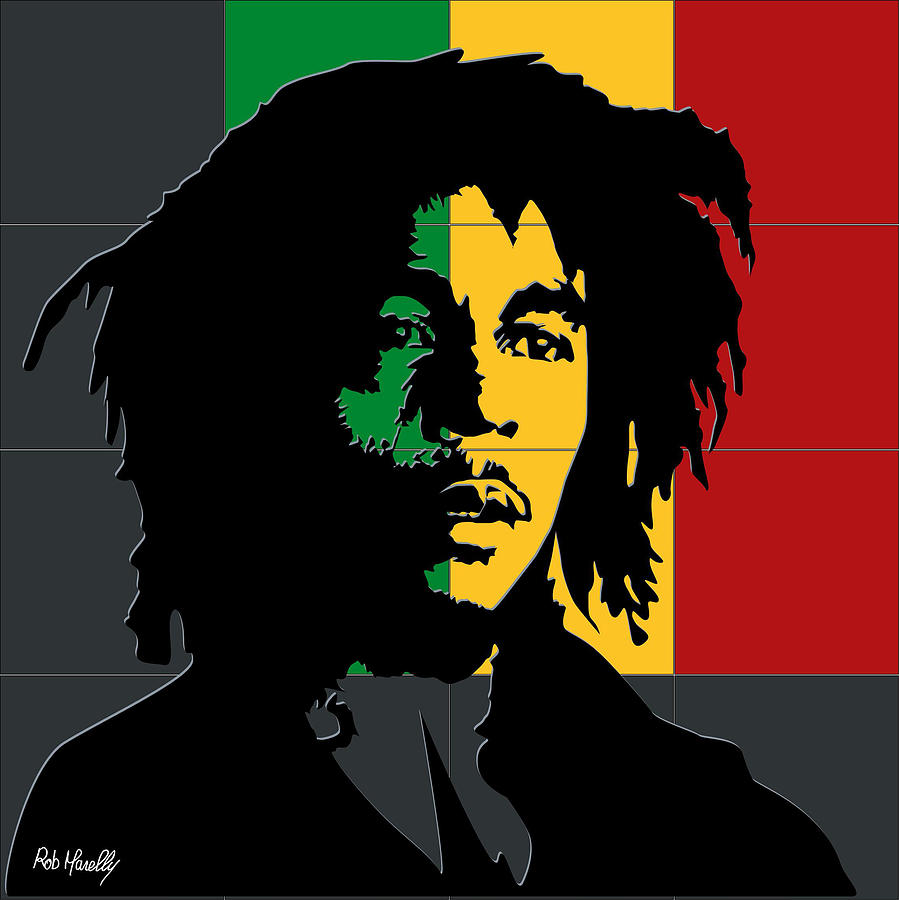 Bob Marley Painting By Roby Marelly