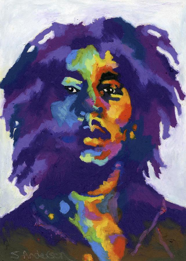 Bob Marley Painting - Bob Marley by Stephen Anderson