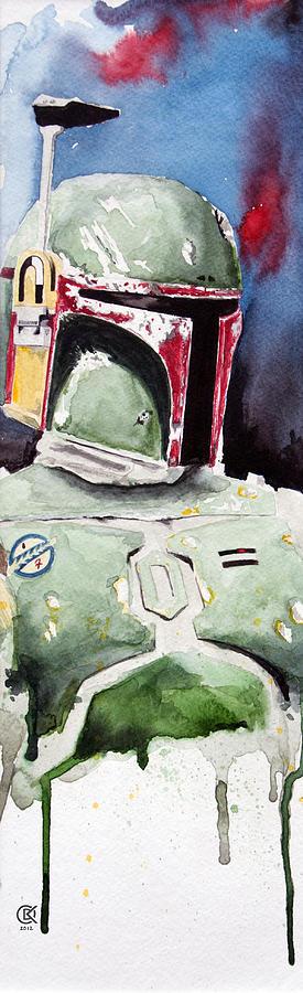 Star Wars Painting - Boba Fett by David Kraig