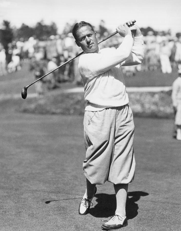1920s Photograph - Bobby Jones At Pebble Beach by Underwood Archives