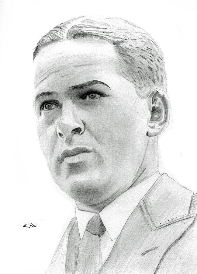 Robert Tyre Jones Drawing - Bobby Jones by Pat Moore