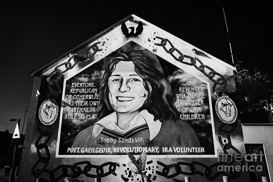 Belfast Photograph - Bobby Sands Mural Belfast by Joe Fox