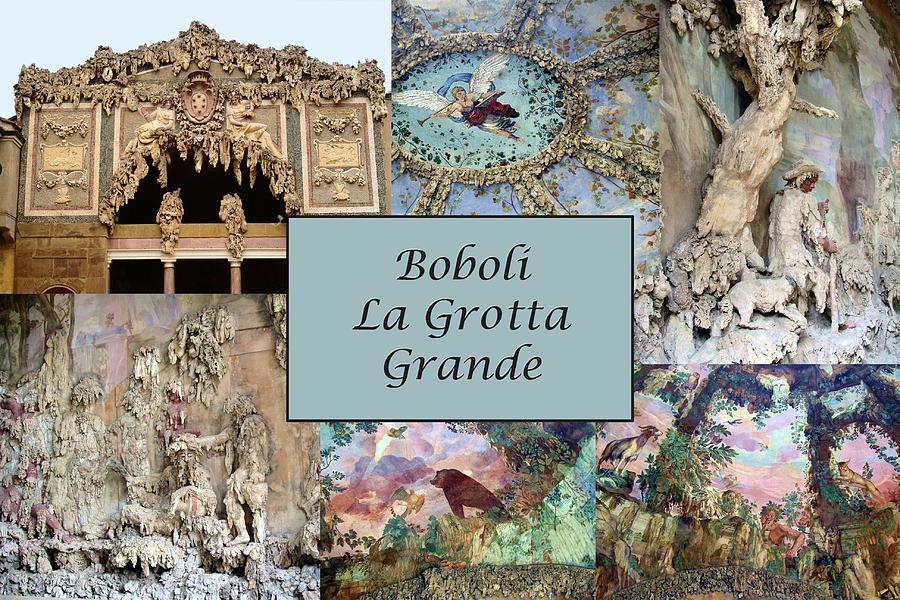 Buontalenti Photograph - Boboli La Grotta Grande 1 by Ellen Henneke
