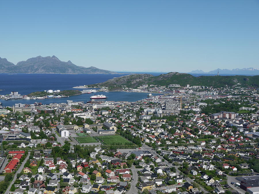 Bodø Airial View, North Norway Photograph by Monica Mostue