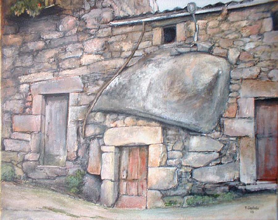 Bodega en Fermoselle Painting by Tomas Castano