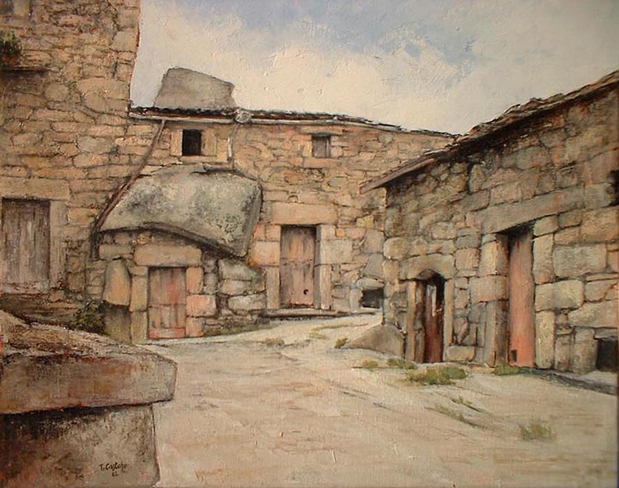 Zamora Painting - Bodegas en Fermoselle by Tomas Castano