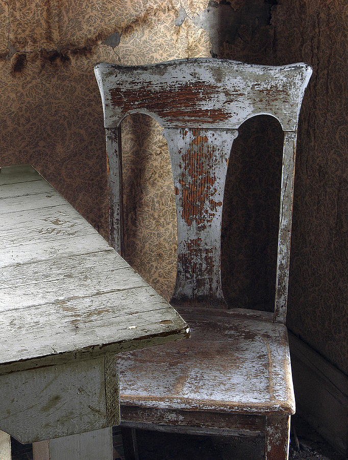 Photographs Photograph - Bodie Chair And Table by David Marr
