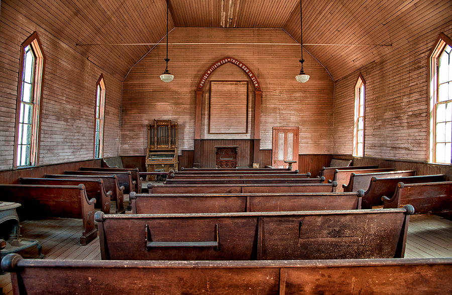 Church Photograph - Bodie Church by Cat Connor