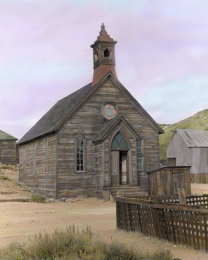 Bodie Photograph - Bodie Church by Mel Felix